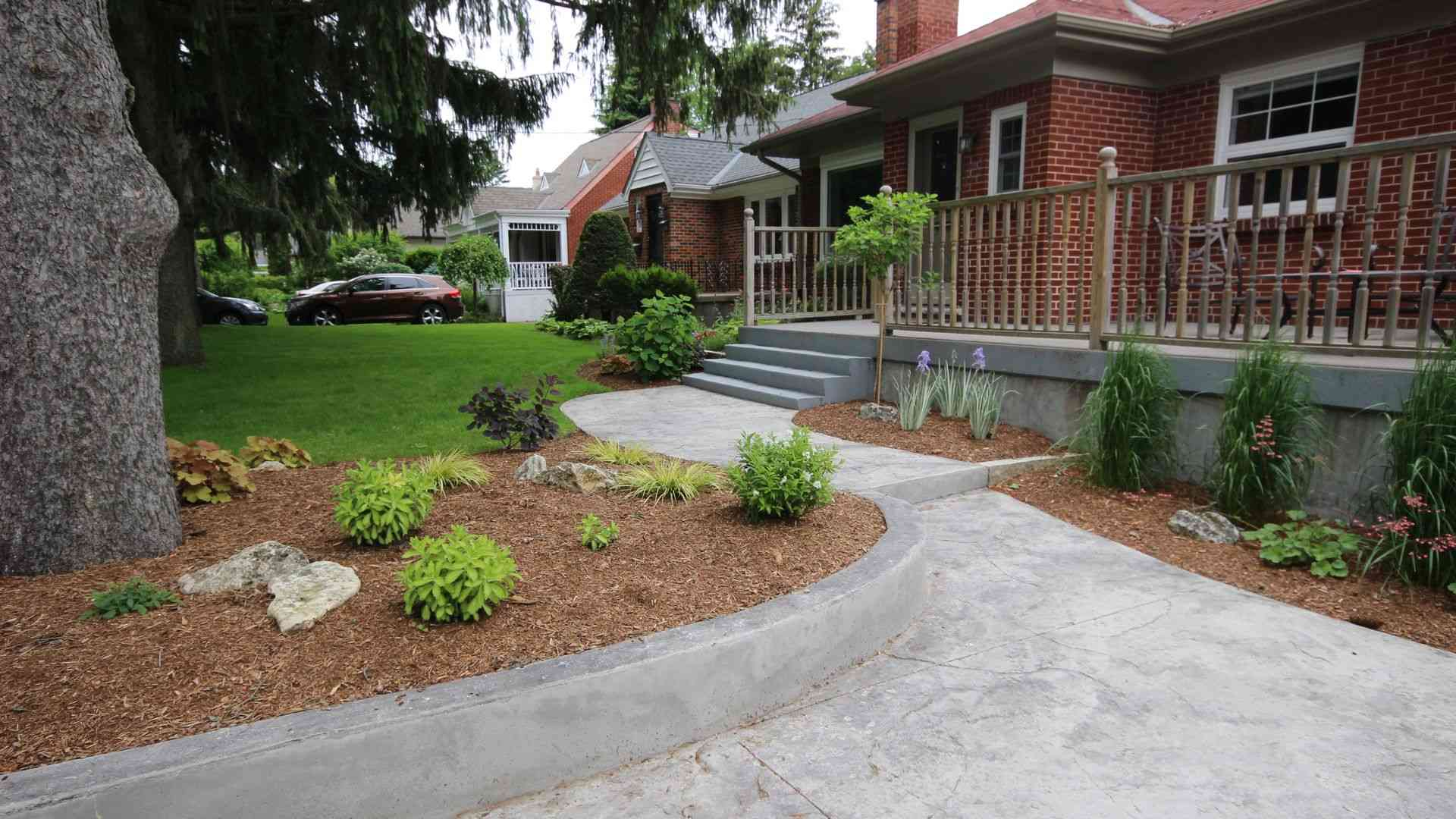 A traditional landscaping project in London Ontario.